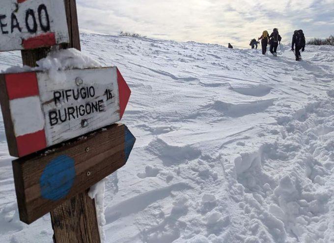 neve perfetta per le ciaspole e ne aspettiamo ancora!