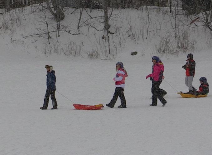E' arrivata la prima vera nevicata dell'inverno; gioia per gli operatori turistici