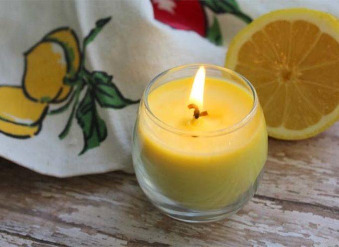 Candele al limone fai-da-te: 3 ricette per realizzarle in casa