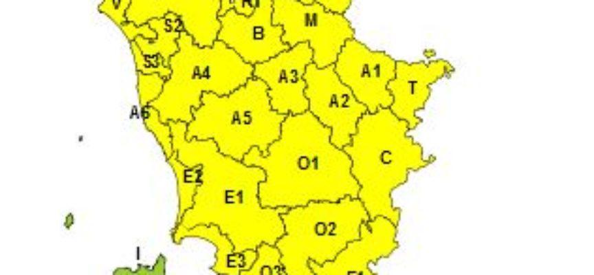 CAPANNORI – Codice giallo per neve mercoledì 30 e giovedì 31 gennaio