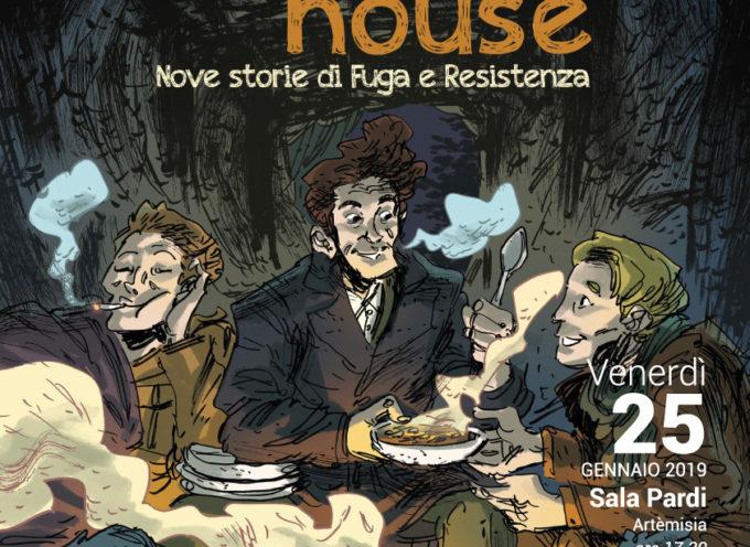 LA PRESENTAZIONE DEL FUMETTO  'COME INTO MY HOUSE.NOVE STORIE DI FUGA E RESISTENZA A CAPANNORI'