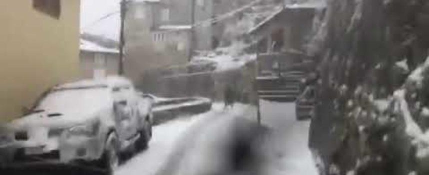 Neve anche sulle colline di Capannori: le immagini a Ruota