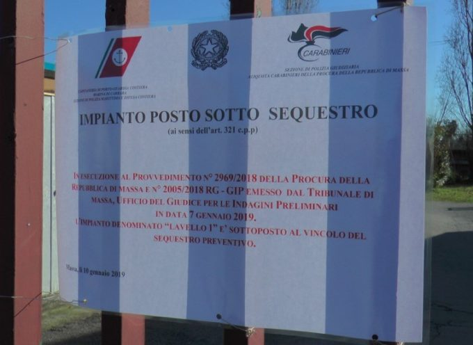 Sequestro preventivo del depuratore Lavello 1 di Massa Carrara.