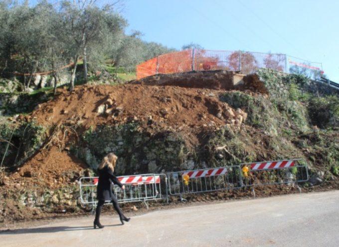 Capezzano Monte: la pioggia aggrava stato muro sostegno strada via Capezzano