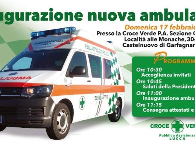 CASTELNUOVO DI GARFAGNANA – Inaugurazione nuova Ambulanza