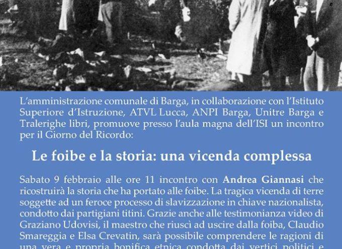 Giorno del Ricordo: a Barga la lezione dello storico Andrea Giannasi