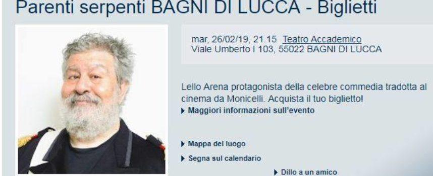 """Parenti Serpenti"" al Teatro Accademico di Bagni di Lucca.."
