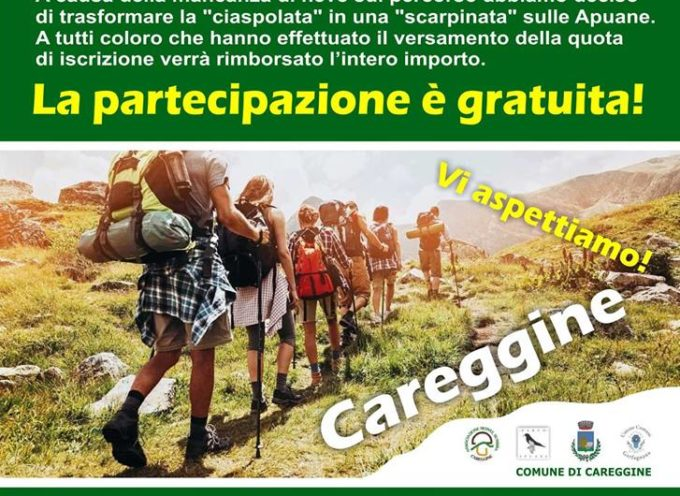 """CAREGGINE – Via le ciaspole e su gli scarponcini per la """"Scarpinata della #Garfagnana""""."""
