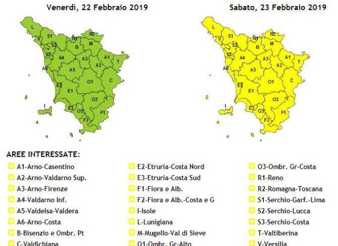 Avviso di Vigilanza Meteo per la Valle del Serchio emesso dalla Protezione Civile Regionale.. 22 febbraio