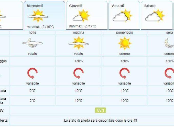 il Meteo per la Valle del Serchio del LAMMA Toscana.. aggiornamento al 26 febbraio