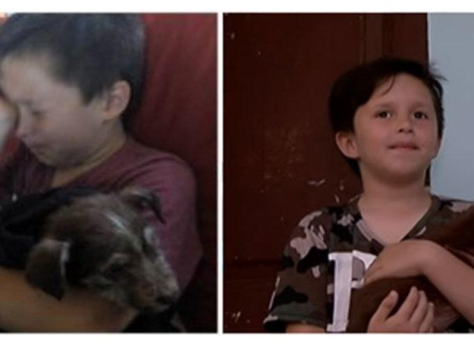 Ha solo 7 anni e ha salvato la vita a un cucciolo che è stato crudelmente maltrattato da altri bambini