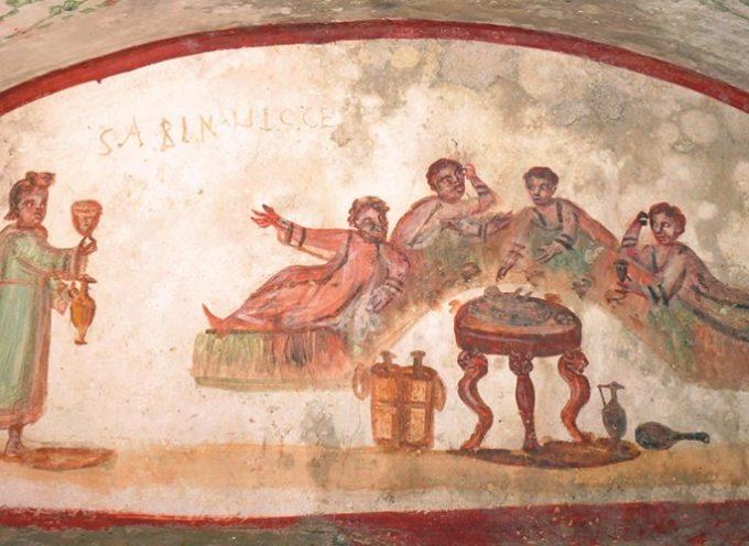 Nell'Antica Roma, 21 e 22 Febbraio: Feralia, feste dedicate ai defunti, che si onoravano, mangiando tutti attorno ad una sedia vuota!