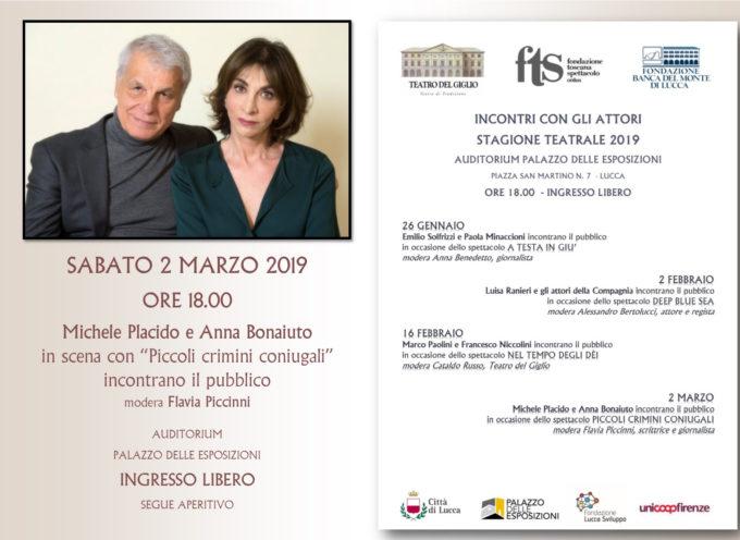 Michele Placido e Anna Bonaiuto incontrano il pubblico