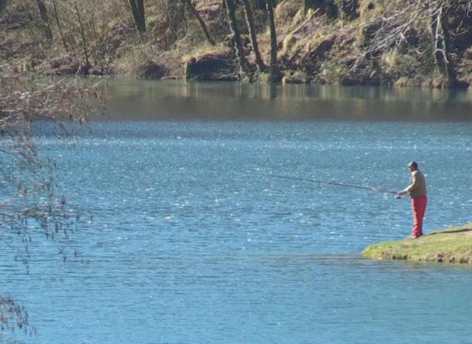 Aperta la Pesca alla trota anche sul meraviglioso lago di Isola Santa