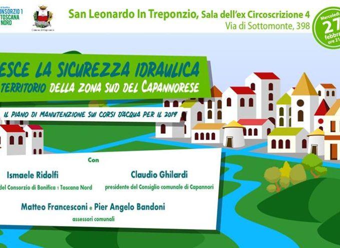 Il Consorzio  fa tappa a Capannori  il presidente Ridolfi e l'Amministrazione comunale incontrano i cittadini a San Leonardo in Treponzio