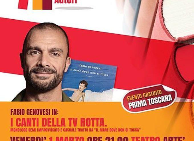 ad Artè Fabio Genovesi con il monologo 'I canti della tv rotta' apre la rassegna 'Capannori Incontra Autori'
