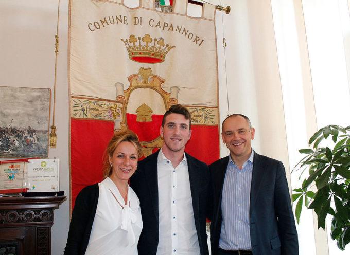 CAPANNORI – Il pilota marliese Riccardo Pera ricevuto in Comune
