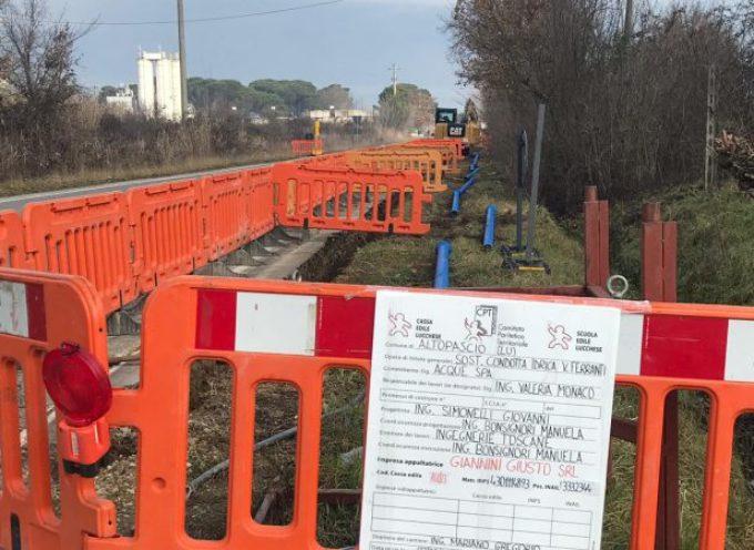 ALTOPASCIO – Sono iniziati i lavori di Acque SpA per la sostituzione della condotta idrica in via Ferranti
