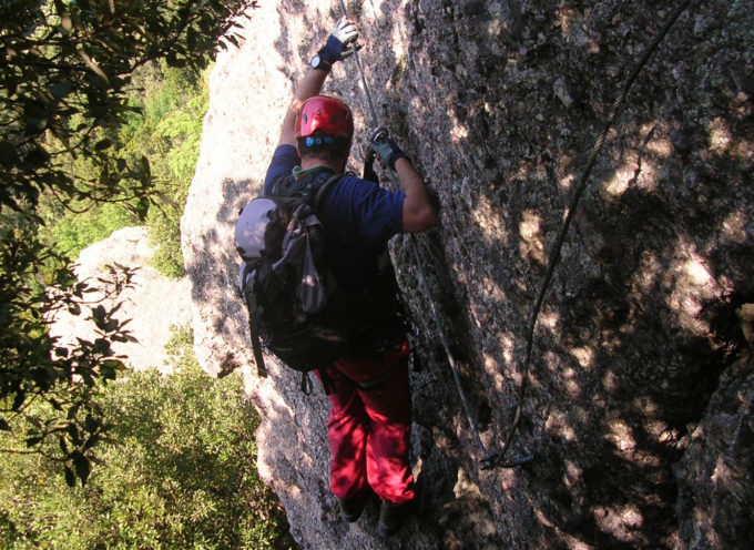 Arrampicata e ferrata a Buti sul Monte Pisano