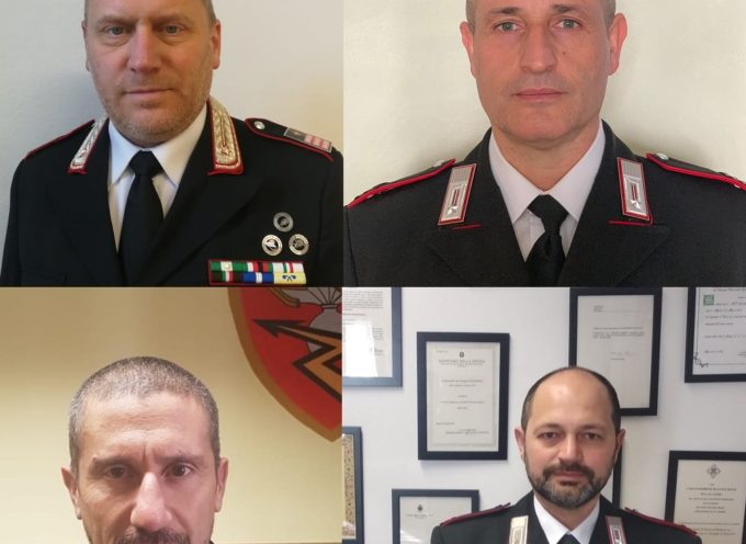 Carabinieri, insediati 4 nuovi comandanti