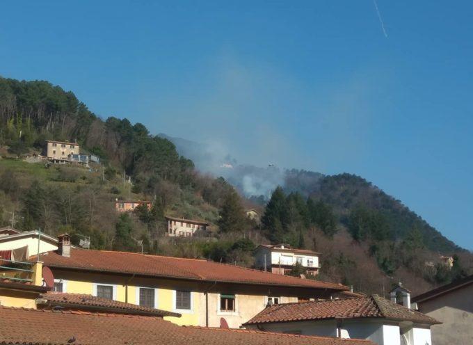 Incendio a Seravezza, sopra Montorno, in località Le Salde
