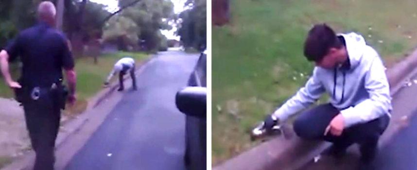 I poliziotti si fermano per un controllo e scoprono che un giovane stava salvando una vita