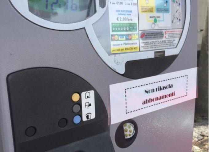 Pietrasanta – Parcheggi: biglietto di cortesia (15 minuti) automatizzato, sarà rilasciato dai parchimetri