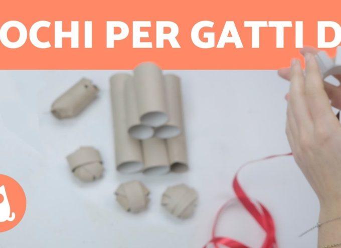 4 GIOCHI per gatti fai da te FACILI! 😻 Riciclo creativo rotoli di carta igienica
