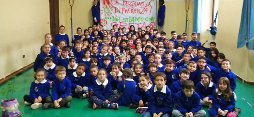 """Pubblica istruzione: gli alunni della """"Don Milani"""" stanno dalla parte di Greta e di chi difende il futuro del pianeta. Un premio per la lorosensibilità ambientale"""