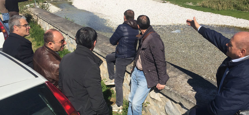 sopralluogo congiunto stamani da parte di Comune, Consorzio di Bonifica, Genio Civile, Unione dei Comuni e Autorità di Bacino sullo stato del fiume Versilia e del rio Bonazzera