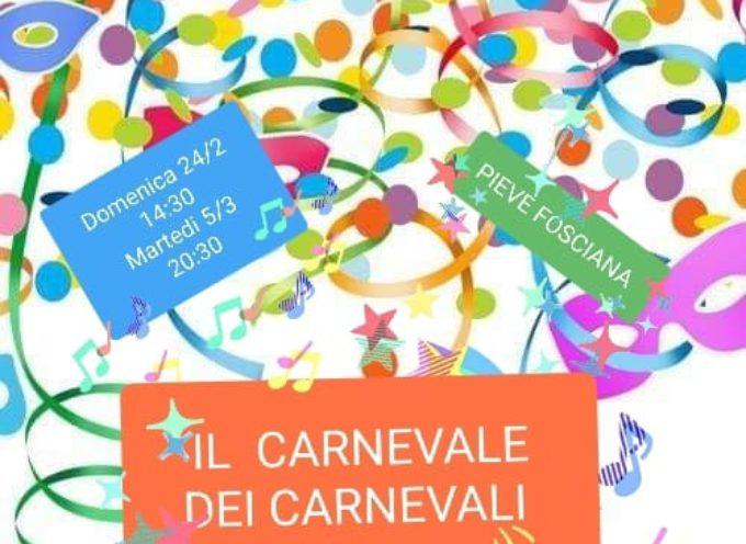 PIEVE FOSCIANA – Tradizionale bruciatura del Carnevale fatto dai bambini dell'asilo