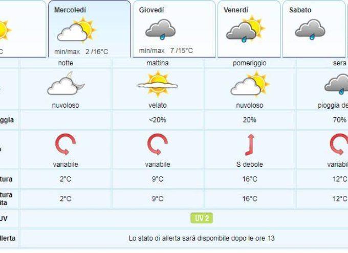 IL Meteo per la Valle del Serchio del LAMMA Toscana.. aggiornamento  al 5 marzo