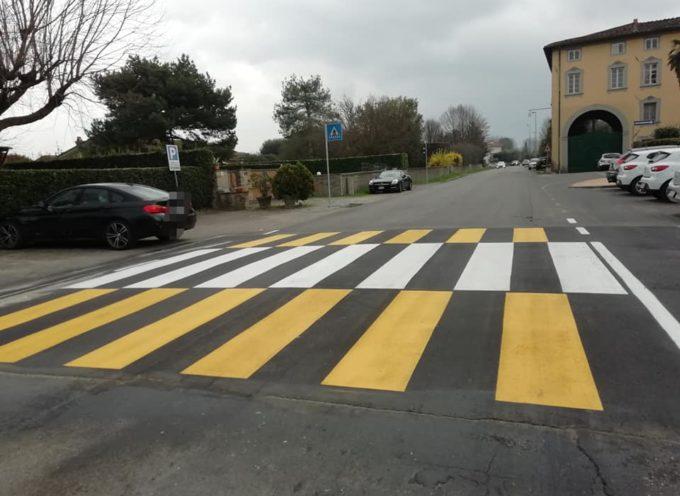 Attraversamenti pedonali rialzati fatti e finiti in via Piaggia e in via del Popolo a Capannori!