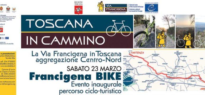 In bicicletta sulla nuova ciclabile Francigena da Camaiore ad Altopascio passando per Lucca e Capannori