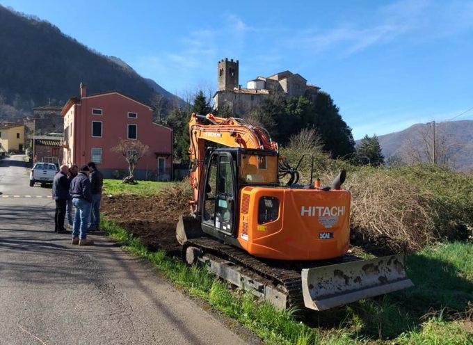 Iniziati i lavori per il nuovo parcheggio ad Anchiano.