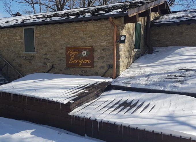 san pellegrino in alpe  – al  rifugio il burigone e' tornata la neve