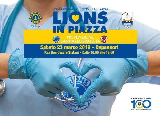 CAPANNORI – Lions in Piazza Prevenzione Sanitaria Gratutita