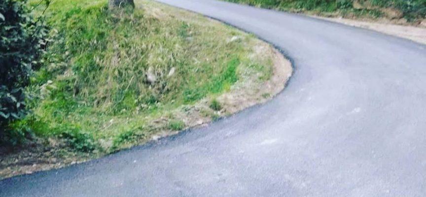 A Roncato, sulla via che congiunge la località al canile, è stato realizzato un significativo tratto di asfalto