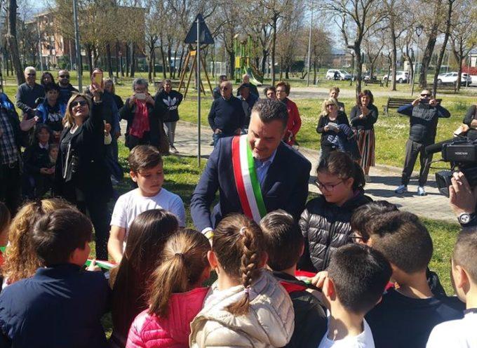 PORCARI – Festa grande al parco Fiamme Gialle per la cerimonia del taglio del nastro
