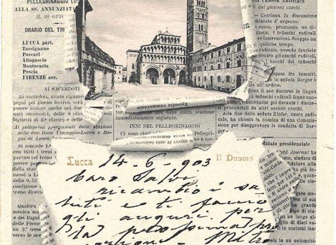 """«L'Esare», giornale dei cattolici lucchesi, aveva raffigurata, in testata, l'immagine del """"ponte del diavolo""""."""