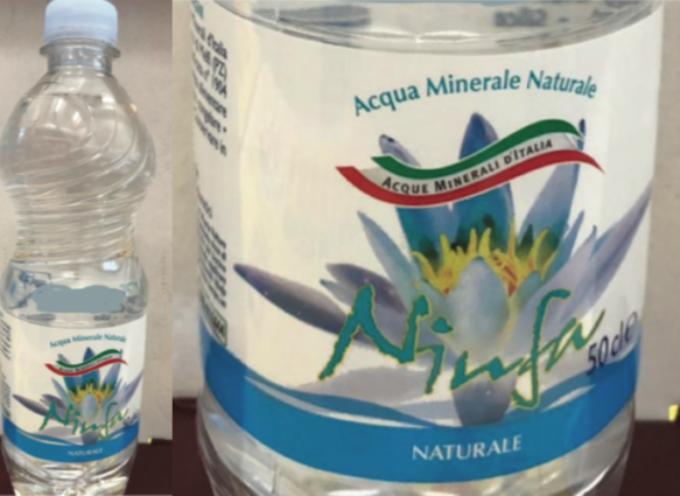 """Penny Market richiama lotto """"Acqua minerale naturale Ninfa"""""""