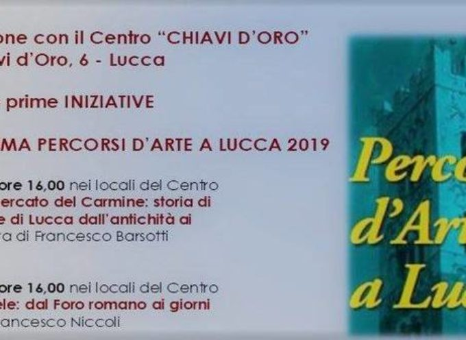 A marzo tornano i Percorsi d'arte a Lucca-Cartanziani 2019