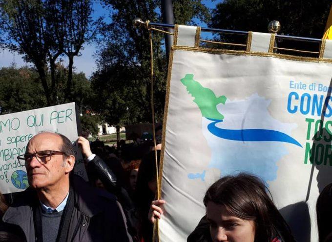 sciopero globale per il clima, anche il Consorzio stamani in piazza al fianco dei giovani manifestanti