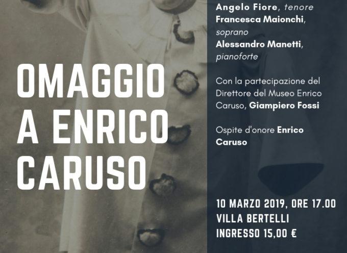 """Comunicato stampa""""Omaggio a Enrico Caruso"""".Il concerto promosso dall'ass. Amici della Musica della Versilia"""