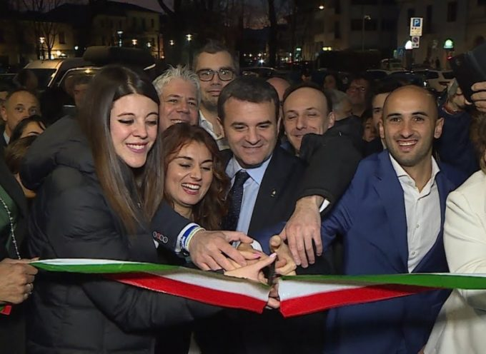 Altopascio, il ministro Centinaio all'inaugurazione della nuova sede della Lega