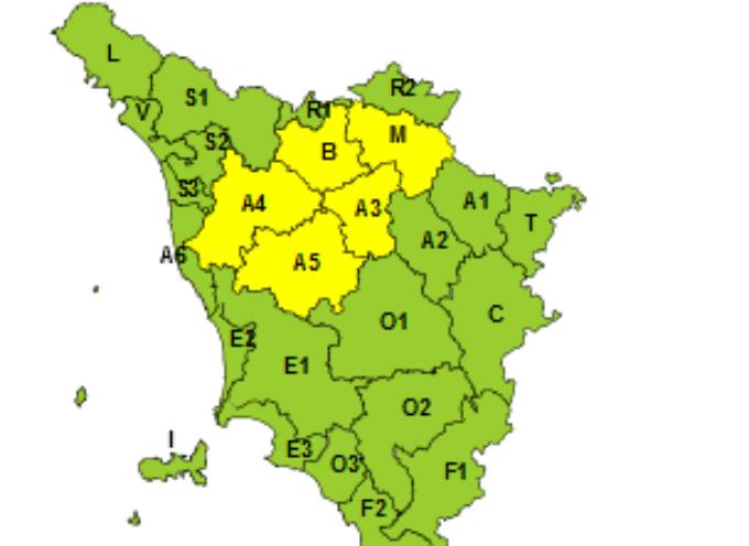 CAPANNORI – Codice giallo per vento forte martedì 19 marzo