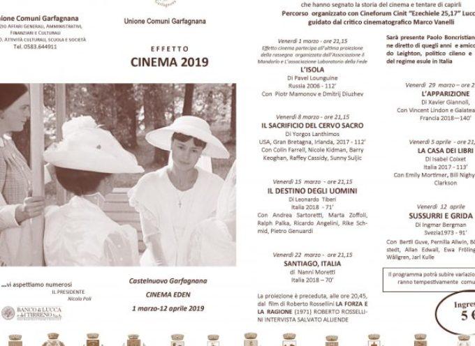 """Castelnuovo di Garfagnana  – Arriva la diciassettesima edizione di """"Effetto Cinema"""""""