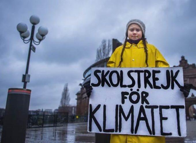 Greta Thunberg candidata al Nobel per la Pace.