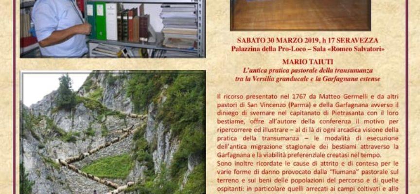 Pro Loco Seravezza: conferenza dell´Istituto Storico Lucchese con Mario Taiuti