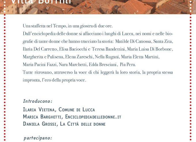 Impronte lucchesi – voci e storie di donne, oggi a Villa Bottini